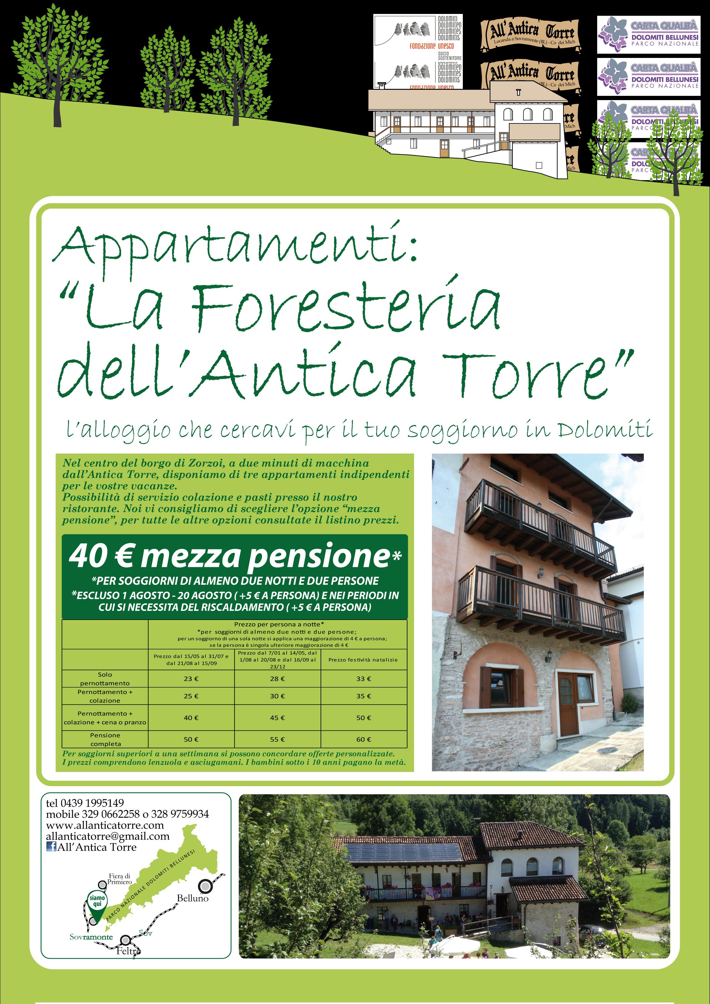 Dormire nella foresteria dell antica torre all 39 antica for Appartamenti in affitto a barcellona per lunghi periodi