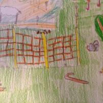 il recinto elettrico, la sua batteria, la bagolina per terra (il pastore è andato a riposare, col recinto elettrico si può fare!)