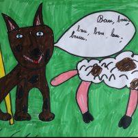 """il cane """"falco"""" che fa il suo dovere con la pecora"""